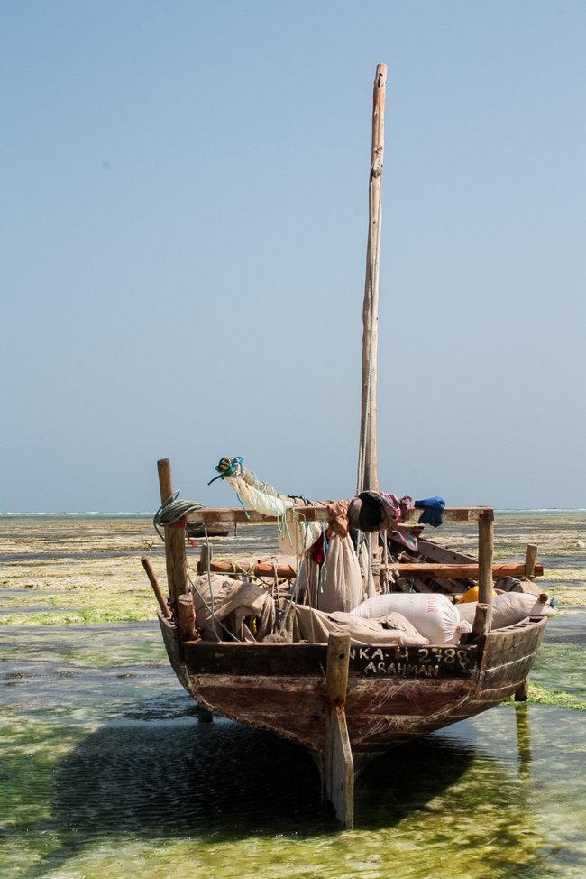Wooden Dhow Boat - Nungwi Beach Zanzibar