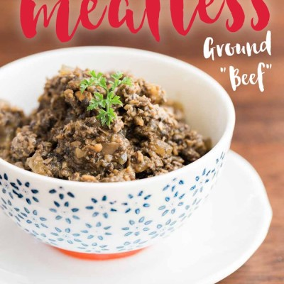 How to Make Vegan Ground Beef in under 30 min! Meat Free.