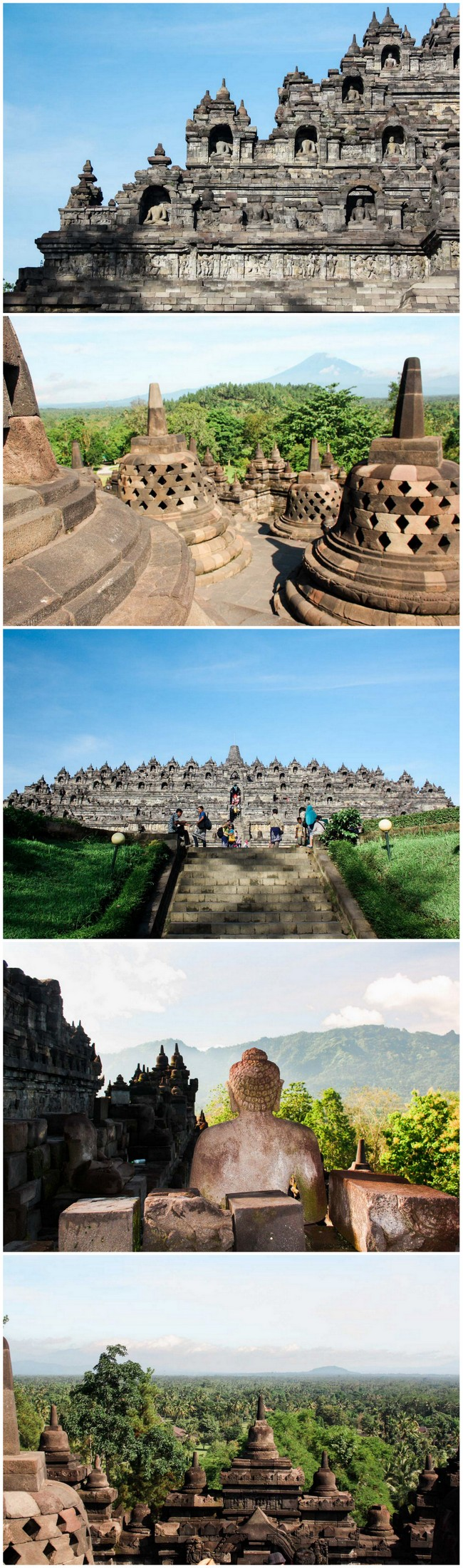 Borobudur is the world's largest buddhist temple. A magnificent UNESCO pilgrimage site, it has 500+ buddha statues, stupas and 2000 ancient bas-relief carvings from the 9th century. Here's how to visit: http://www.swoontastic.com/borobudur-largest-buddhist-temple-java-indonesia/