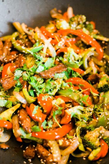 Broccoli Beef Stirfry - vegan