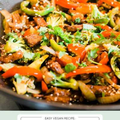 20 Minute Broccoli Beef Stirfry (Vegan)