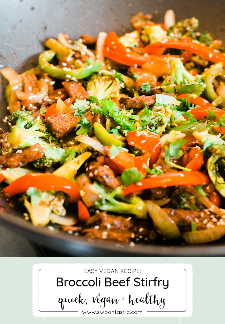 Easy Broccoli Beef Stirfry with Peppers