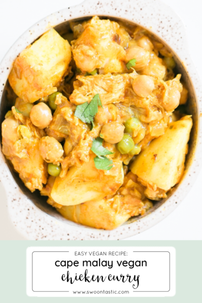 Simple + Tasty Cape Malay Chicken Curry (Vegan)