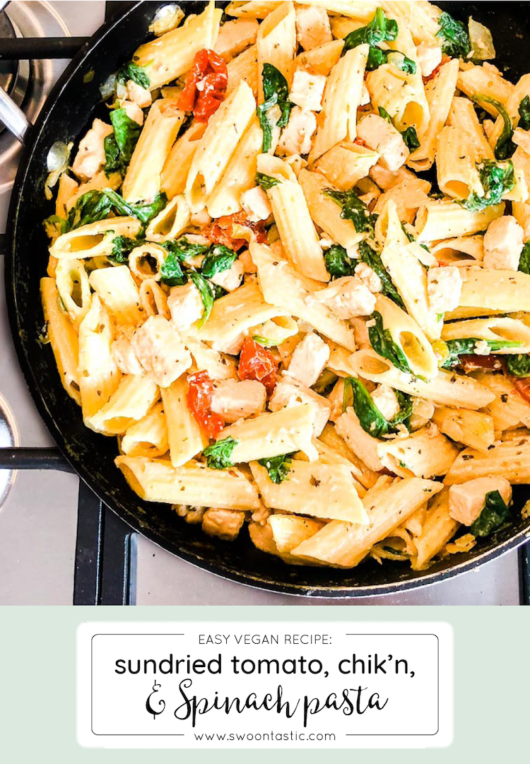 Chicken Spinach Sundried Tomato Vegan Penne Pasta