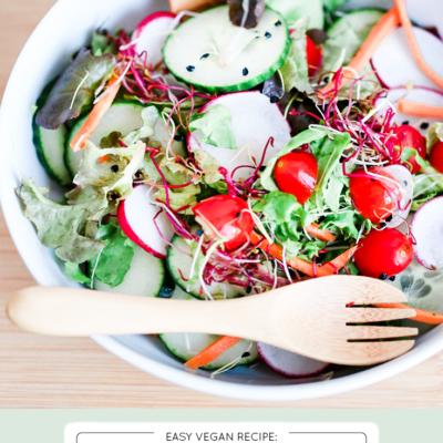 Easy, Healthy 10 Minute Green Salad