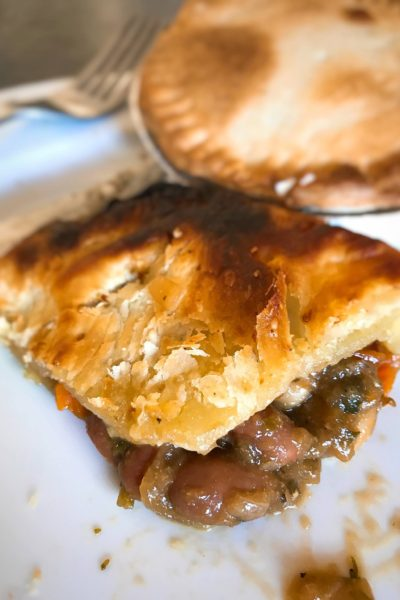 Saucy Savory Borlotti + White Bean Vegan Pot Pies
