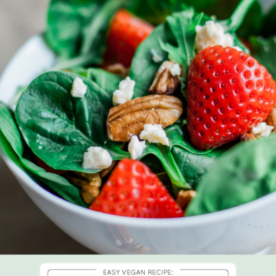 Summer Strawberry, Walnut + Baby Spinach Salad